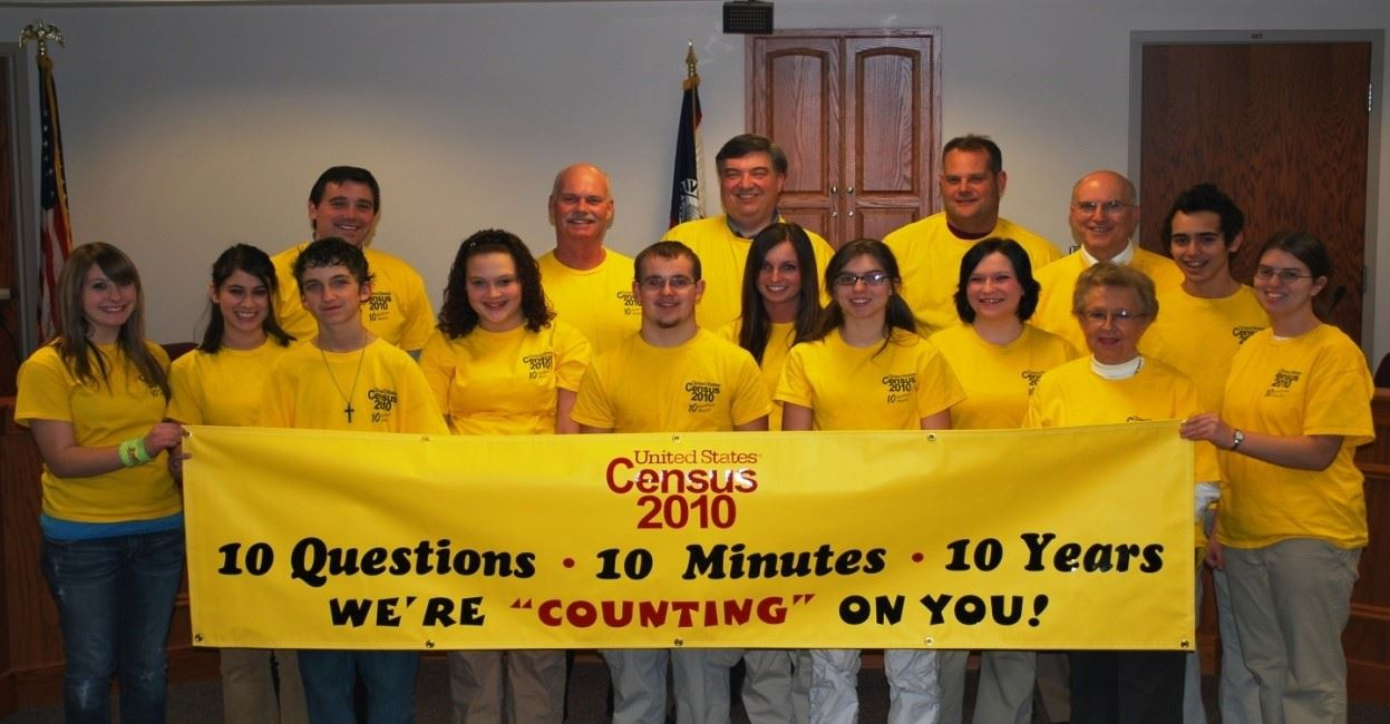 MYAC members pose after helping with 2010 Census