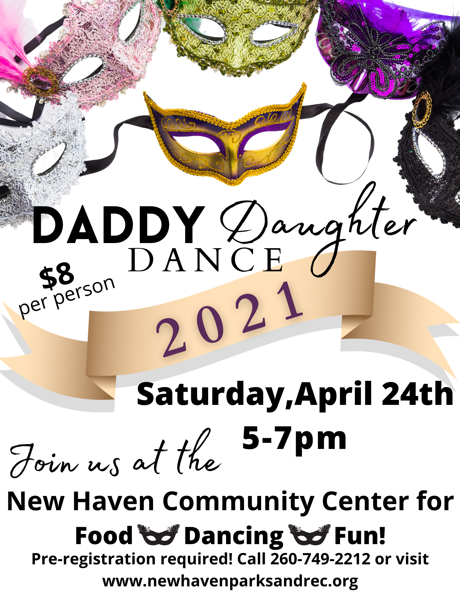Daddy Daughter Dance 2021 flyer