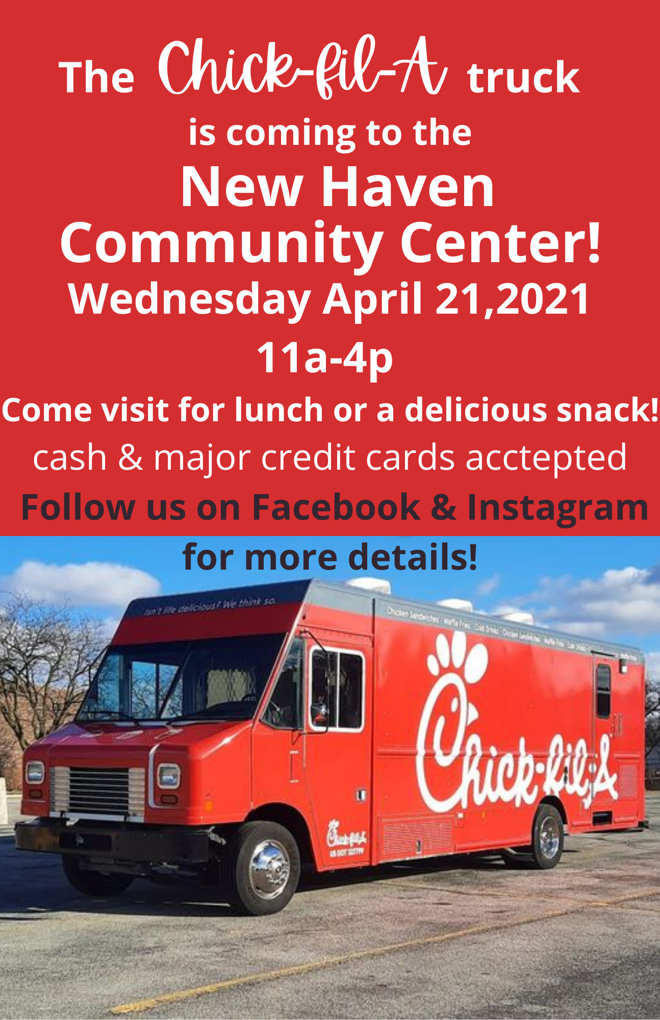 Chick-fil-A truck announcement